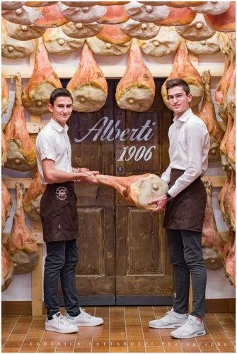 Luca e Marco Alberti del prosciuttificio Alberti - San Daniele del Friuli